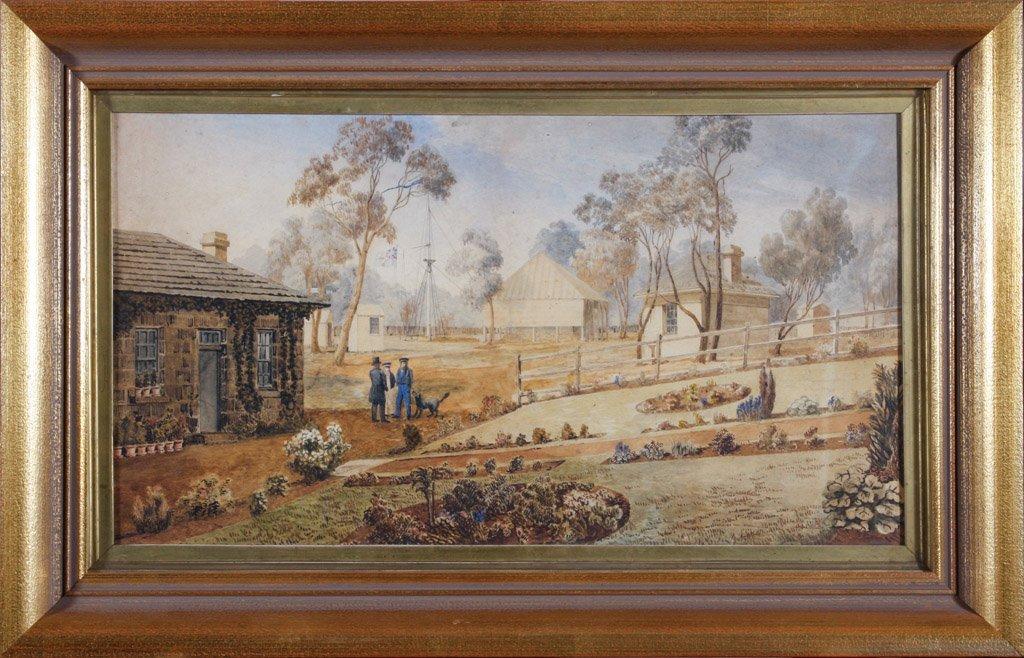 1: TASMANIAN SCHOOL, CIRCA 1840 Governor Franklin, Comm