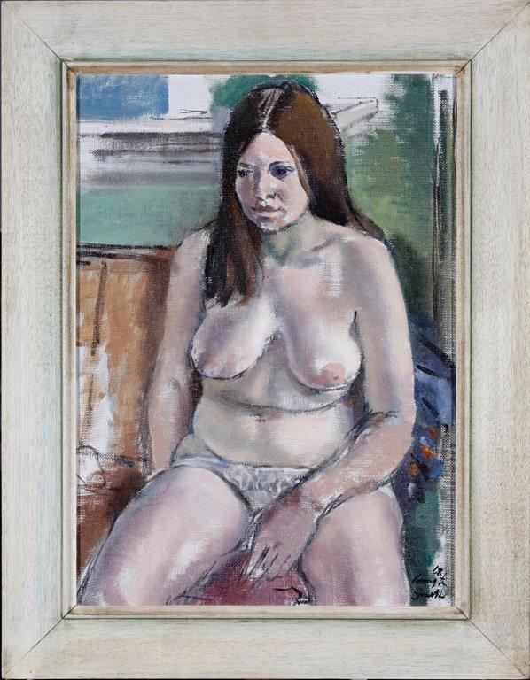 9: JACK CARRINGTON SMITH (1908–1972) Nude oil on board