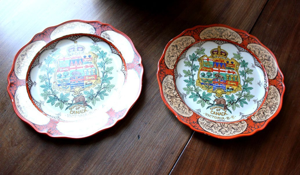 18: A pair of Wedgwood plates bearing 'Dominion of Cana