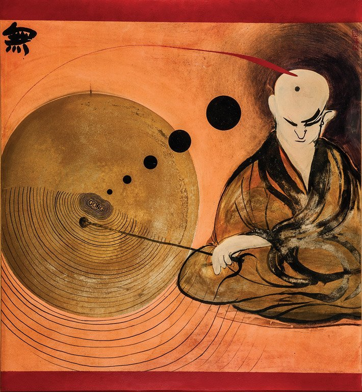 393: BRETT WHITELEY (1939–1992) Change, 1971 Oil on boa
