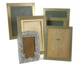541: Six Chinese photo frames, one intricately worked i
