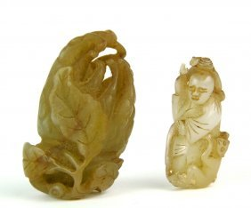549: Two small Chinese jade carvings, Qing Dynasty or l
