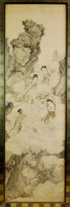 551: A fine quality Chinese scroll painting, Qing Dynas
