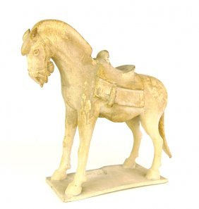 562: A Chinese pottery model of a horse, Sui Dynasty 58