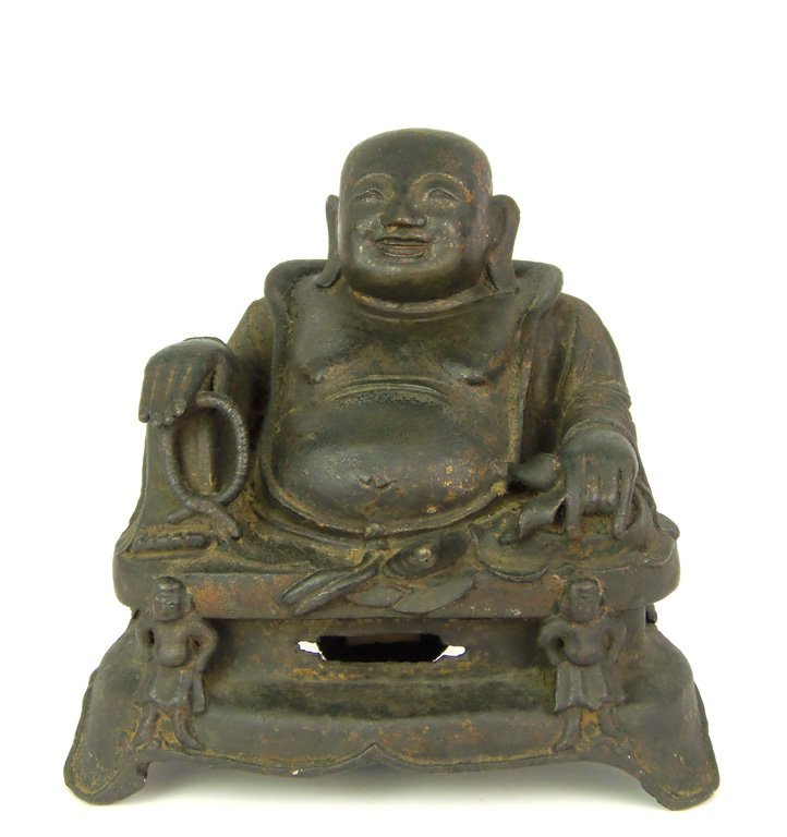 739: A Chinese bronze figure of Budai Maitreya, late Mi