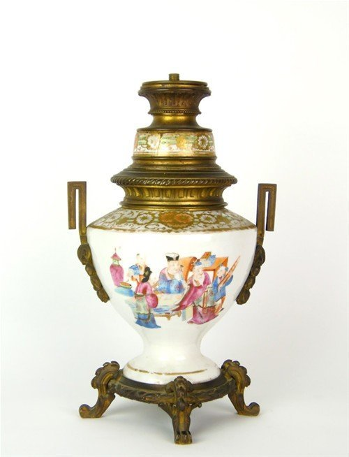 A polychrome and bronze vase lamp Chinese, circa 1880 3