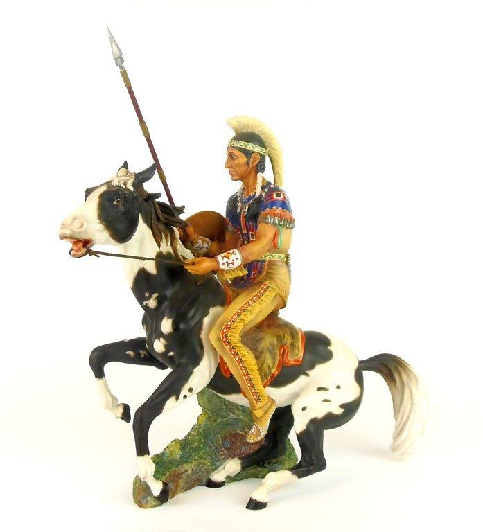A Royal Doulton figure of Indian Brave by Margaret Davi