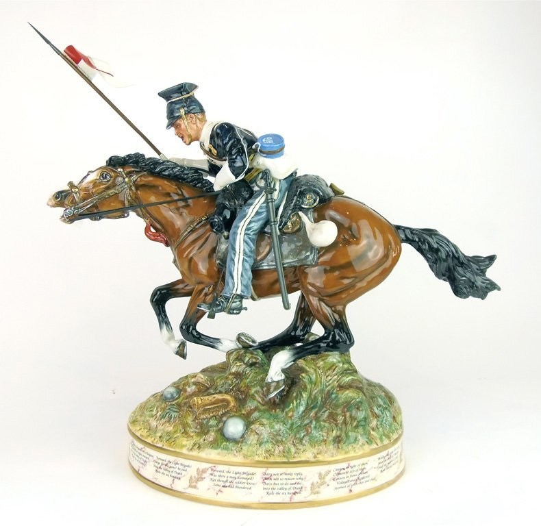 A Royal Doulton figure, Charge of the Light Brigade by