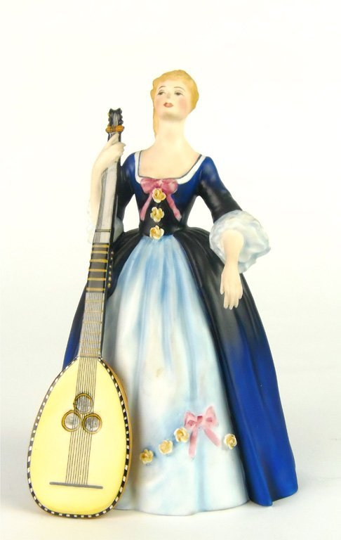 A Royal Doulton figurine, Chitarrone by Margaret Davies