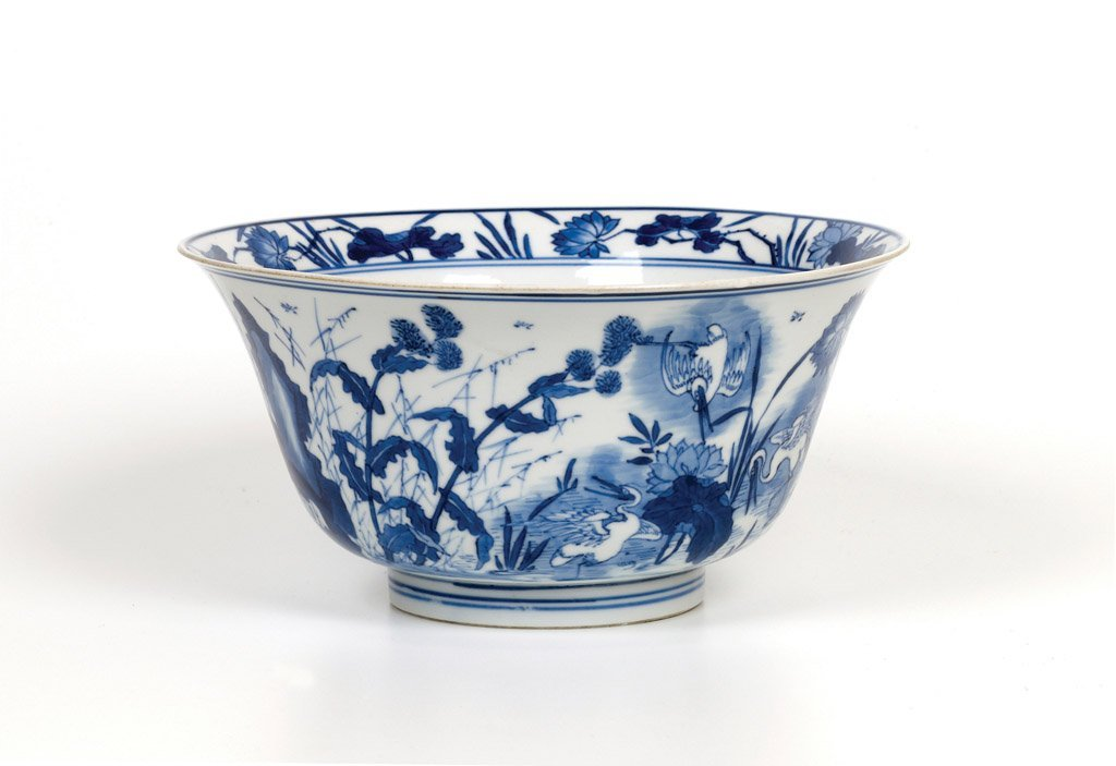 A very rare Chinese blue and white bowl, Kangxi, 1622-1