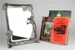 A WMF silverplated Art Nouveau dressing table mirror