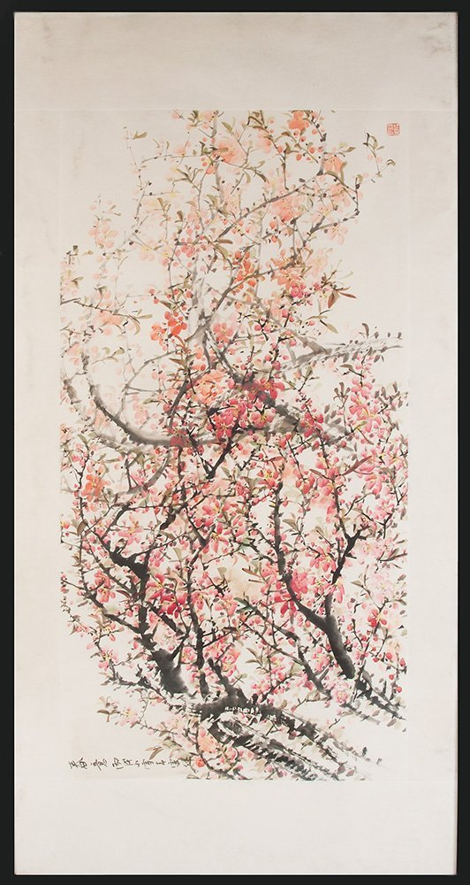 A Chinese painting of a tree in blossom, 20th century i
