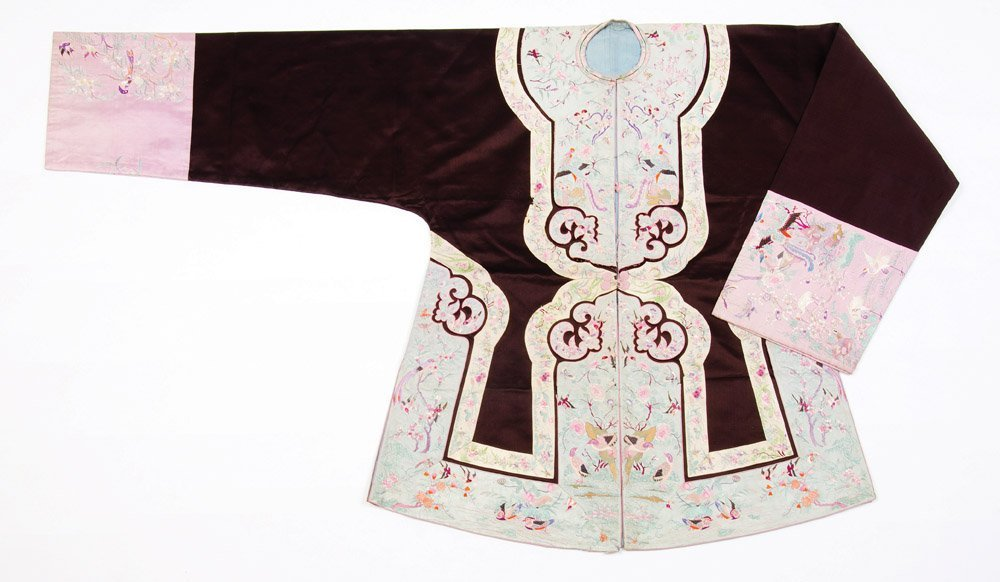 A Chinese jacket, late Qing Dynasty Very finely woven,