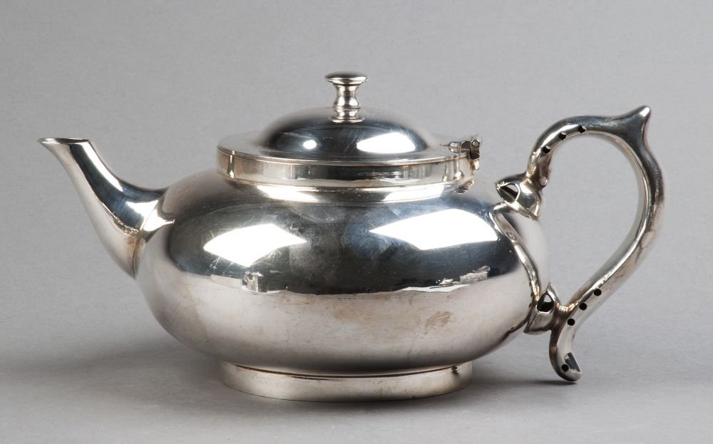 ROBUR silver plated Perfect tea pot with infuser, hot
