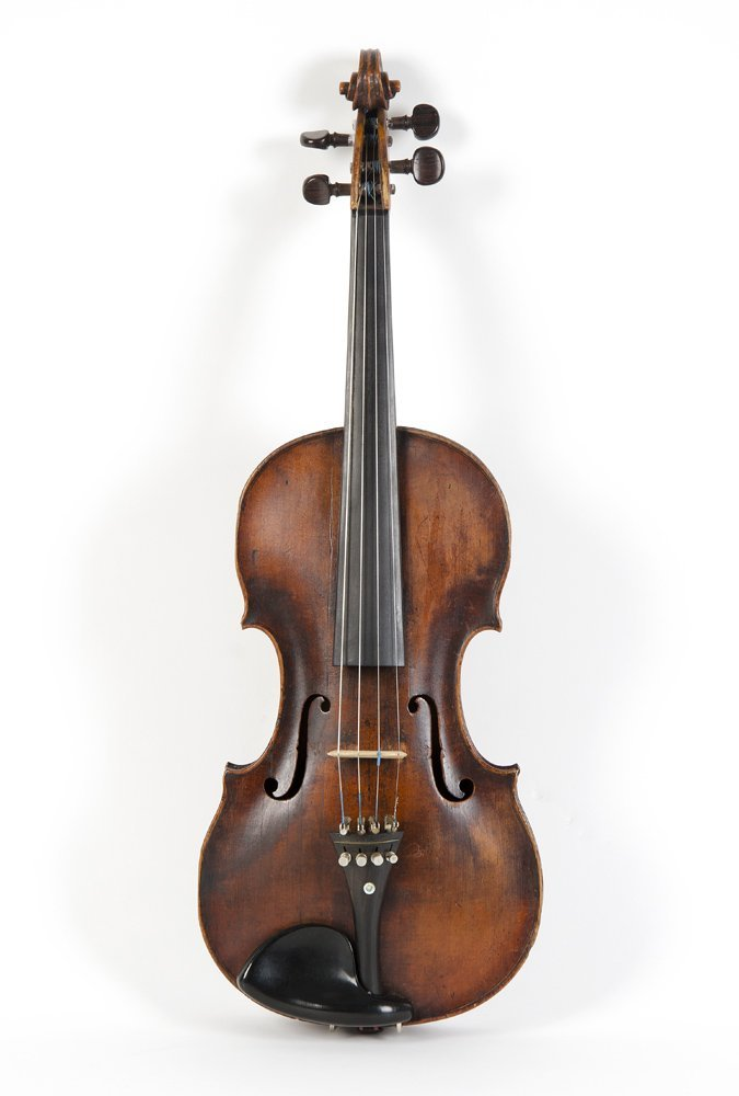 VIOLIN: German Klotz antique violin. Refined scroll,