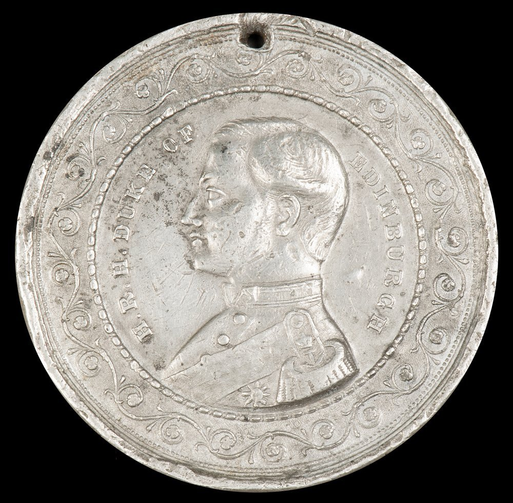 """MEDALLION: """"To Commemorate The Visit of H.R.H.Prince"""
