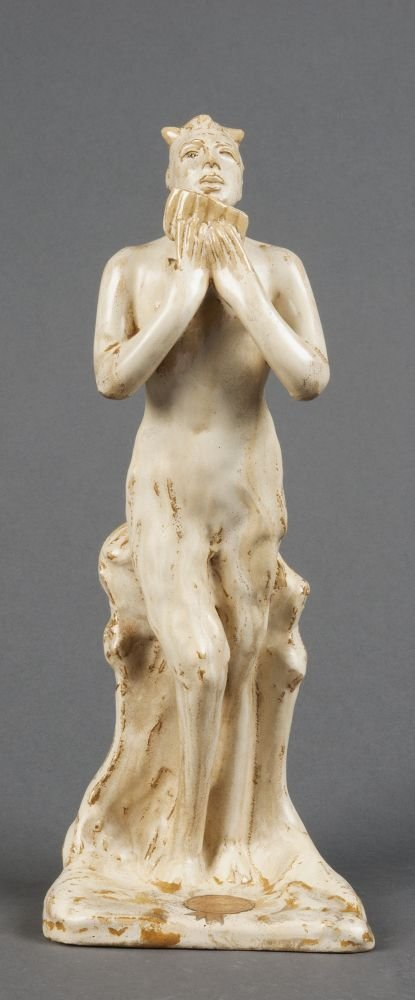 REMUED: Extremely rare pottery figure of Pan titled