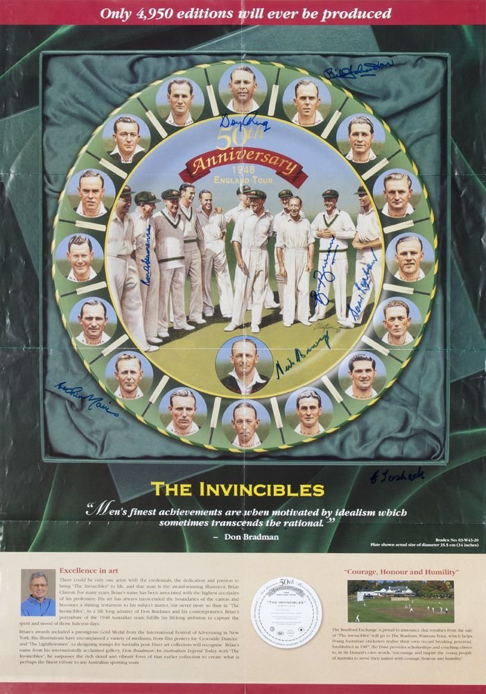 SIGNED ITEMS: Poster for The Invincibles 50th