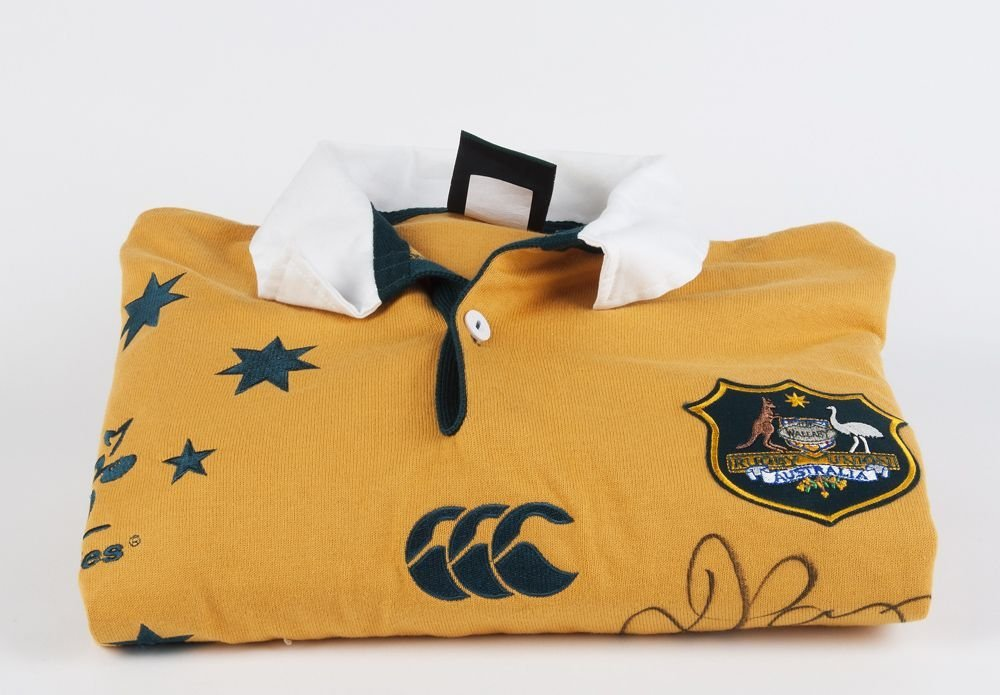 SIGNED ITEMS: Wallabies jersey signed by David Campese;