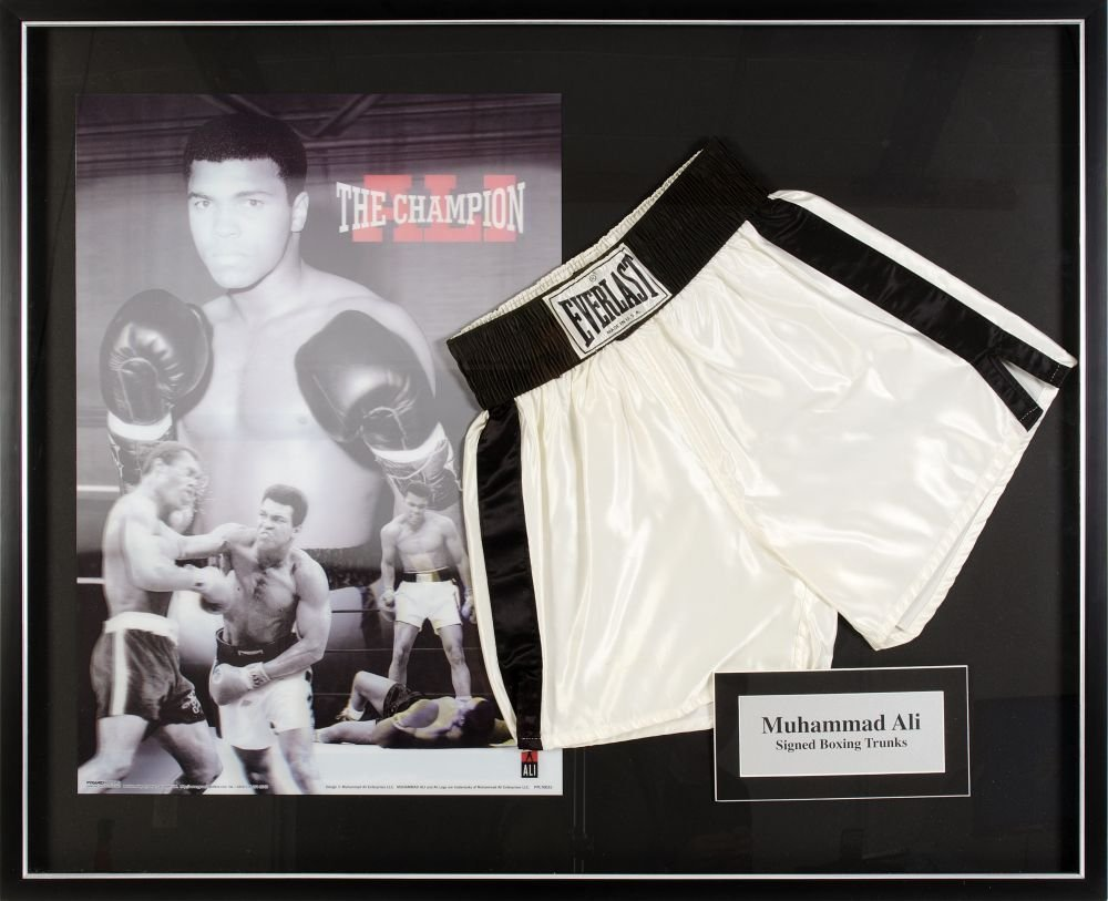 MUHAMMAD ALI, display comprising pair of signed