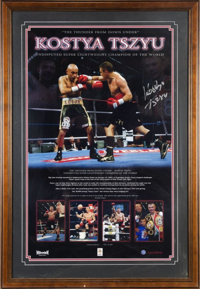 "KOSTYA TSZYU, signed print ""The Thunder from Down Under"