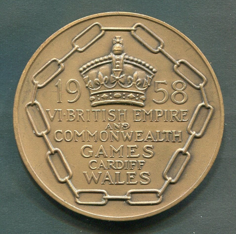 1958 BRITISH COMMONWEALTH GAMES IN CARDIFF,