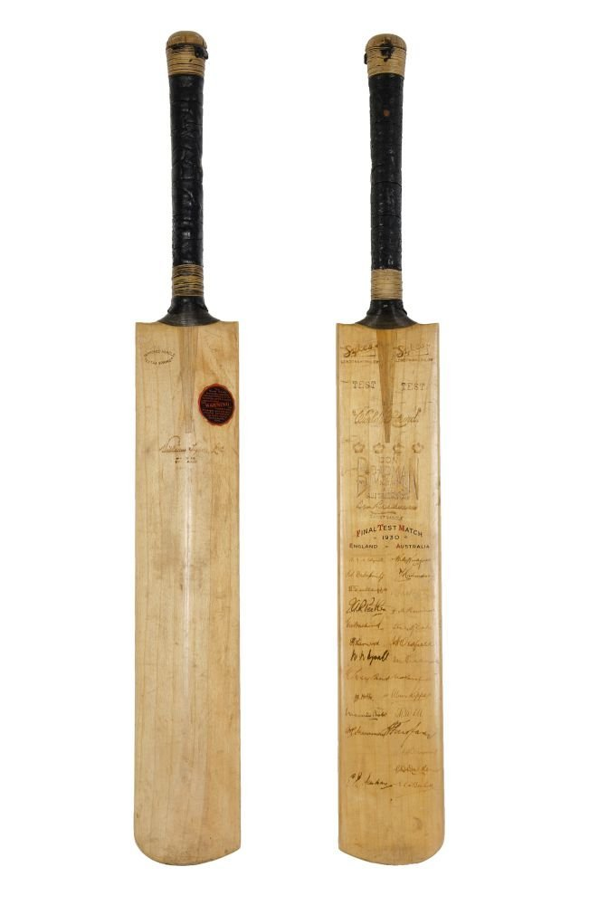 DON BRADMAN'S BAT FROM THE 1930 5TH TEST AT THE OVAL: