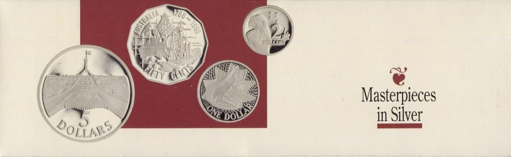 Accumulation; 1988 & 1989 Masterpieces in Silver sets;