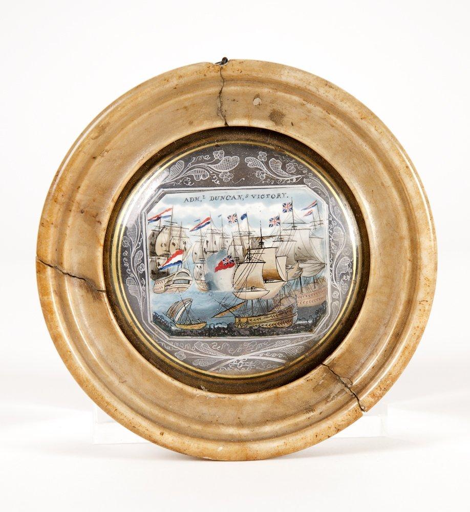 NAPOLEONIC ERA MINIATURE: c1800 miniature painting on