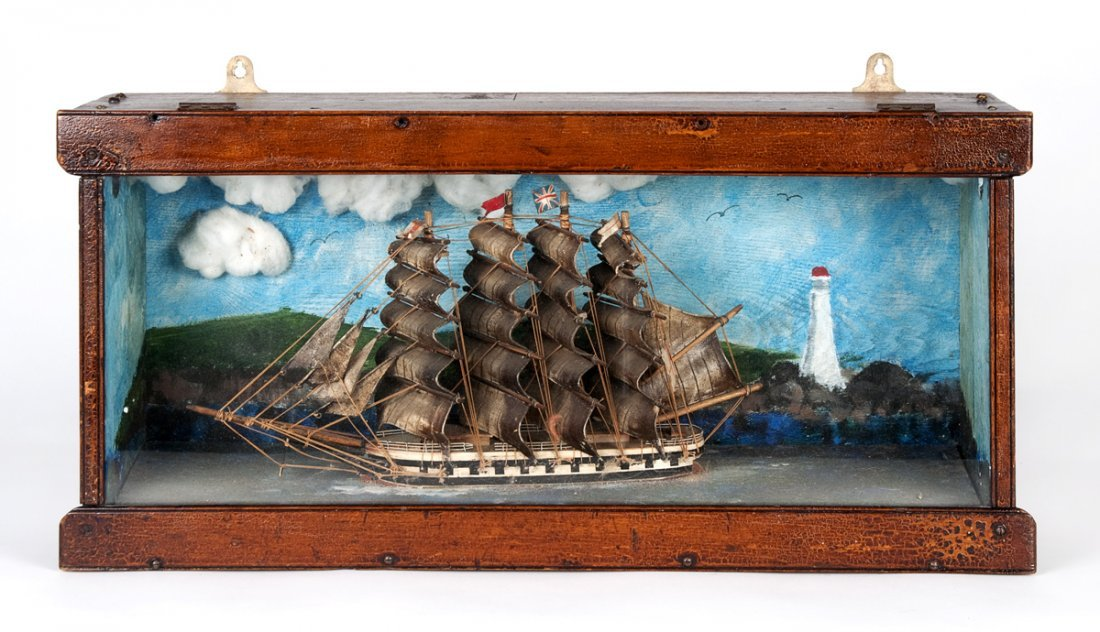 A Victorian diorama, English 19th century; of a four