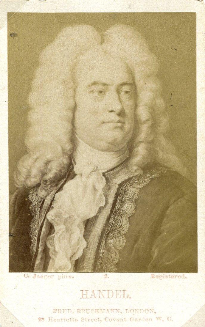 COMPOSERS: Cartes-de-visite of Handel, Haydn, Beethoven