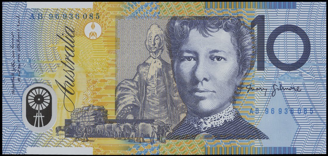 Banknotes (25+) incl. Aust. $5.00 Fraser/Cole polymer,