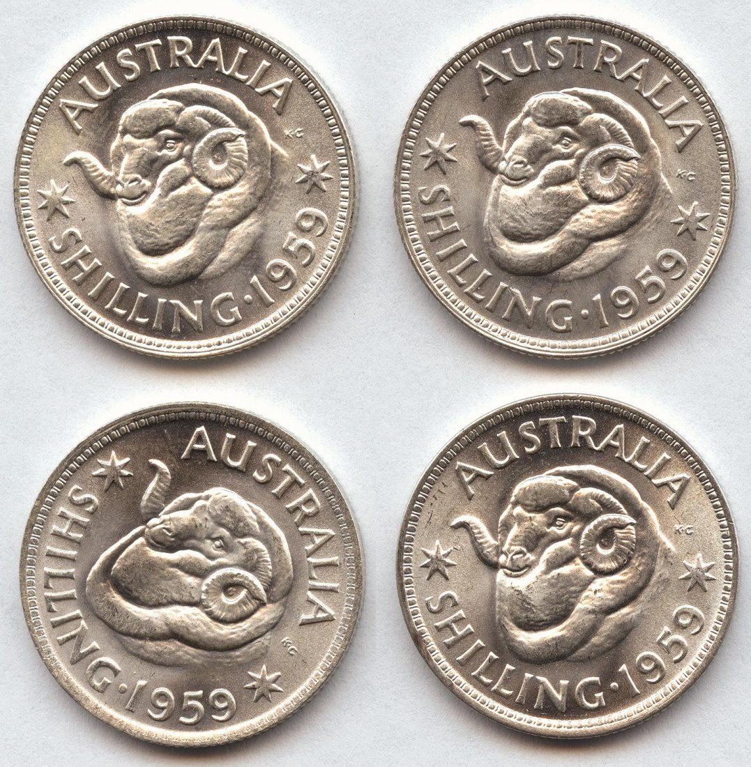 ONE SHILLING: Pre 1945 (6) and post 1946 (119). Mixed