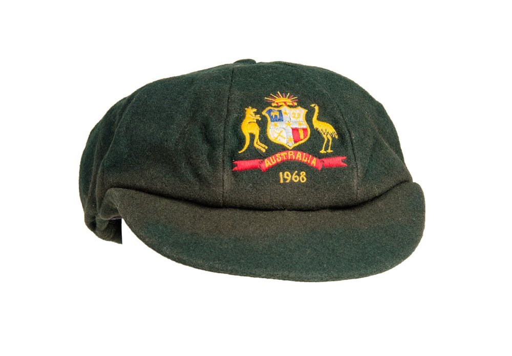 "ALAN CONNOLLY'S AUSTRALIAN ""BAGGY GREEN"" TEST CAP, from"