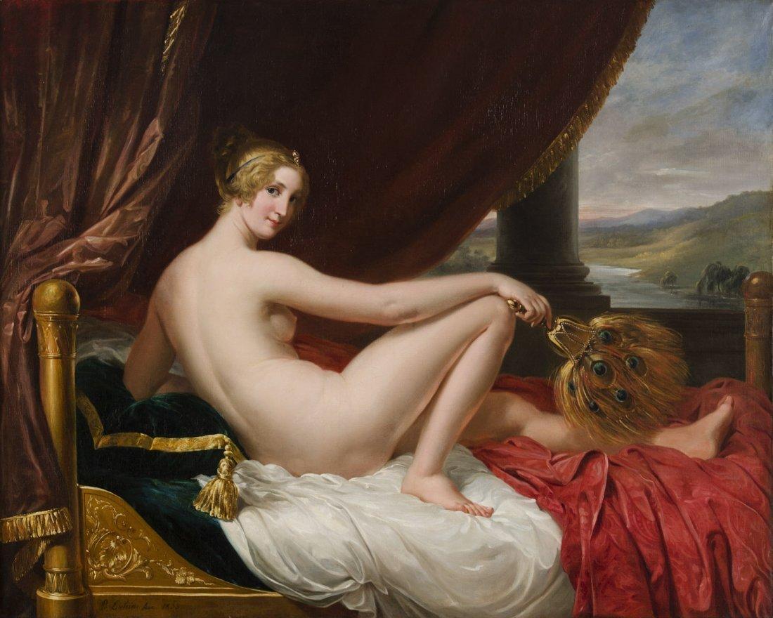 PIETRO LUCHINI  (ITALIAN 1800-1883) Reclining Nude oil