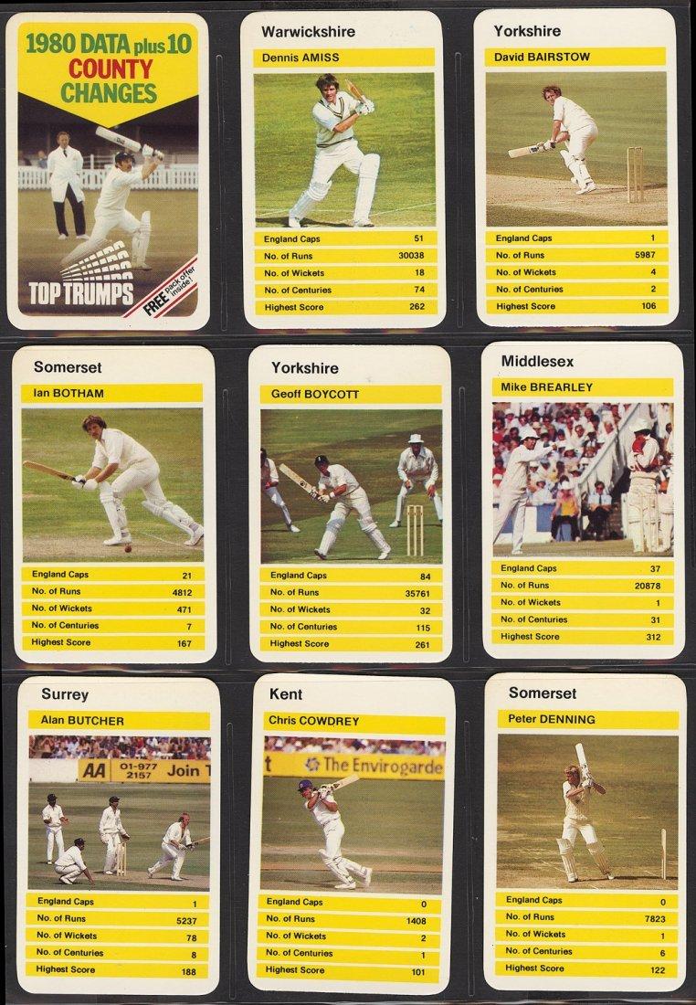 "1980-81 cricket cards, noted 1981 Scanlens ""Cricket - 2"