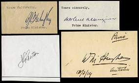 AUSTRALIAN PRIME MINISTERS: Signed pieces of William
