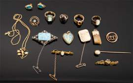 VARIOUS  A collection of Australian gold jewellery