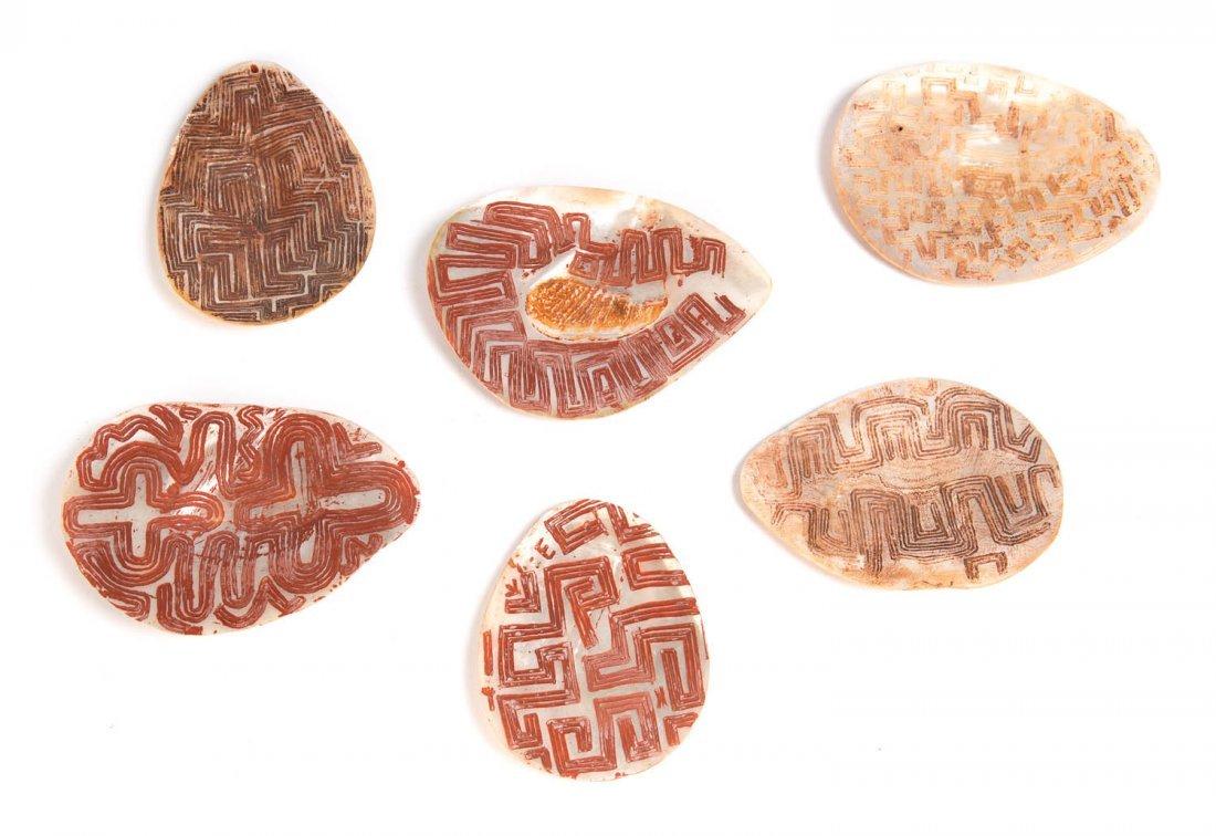 Six Carved Pearl Shells (Riji Jakoli)