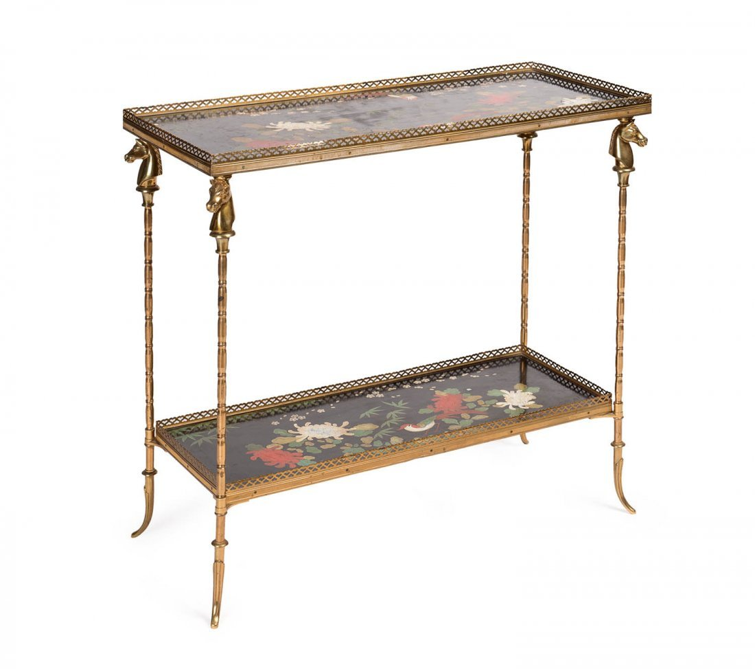 A fine and highly decorative bronze and Chinoiserie