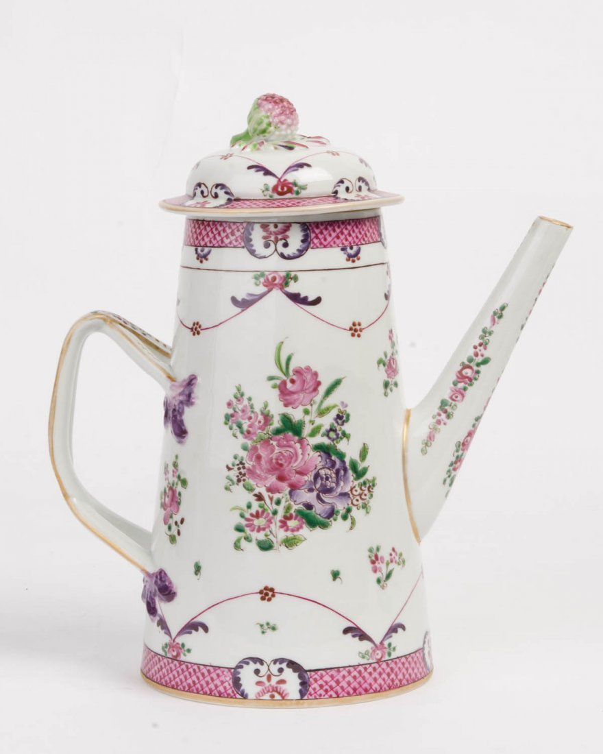 A Chinese Export Famille Rose coffee pot, late 18th