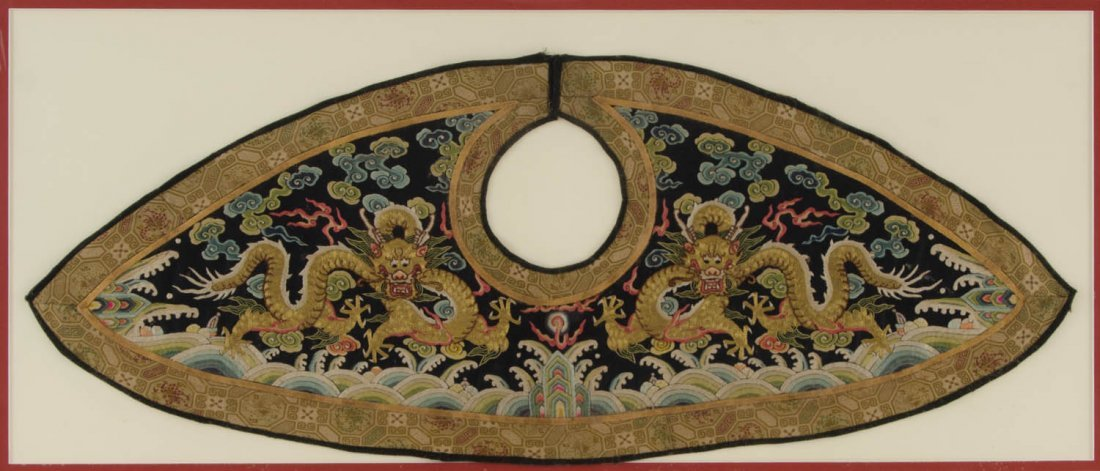 A lady's Chaopao 'piling' collar, late Qing Dynasty,