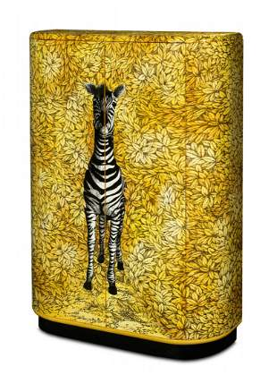 An Italian hand painted and transfer printed 'Zebra'