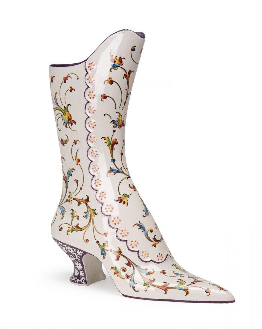 Minghetti italian ceramic boot vase signed angelo minghetti italian ceramic boot vase signed reviewsmspy