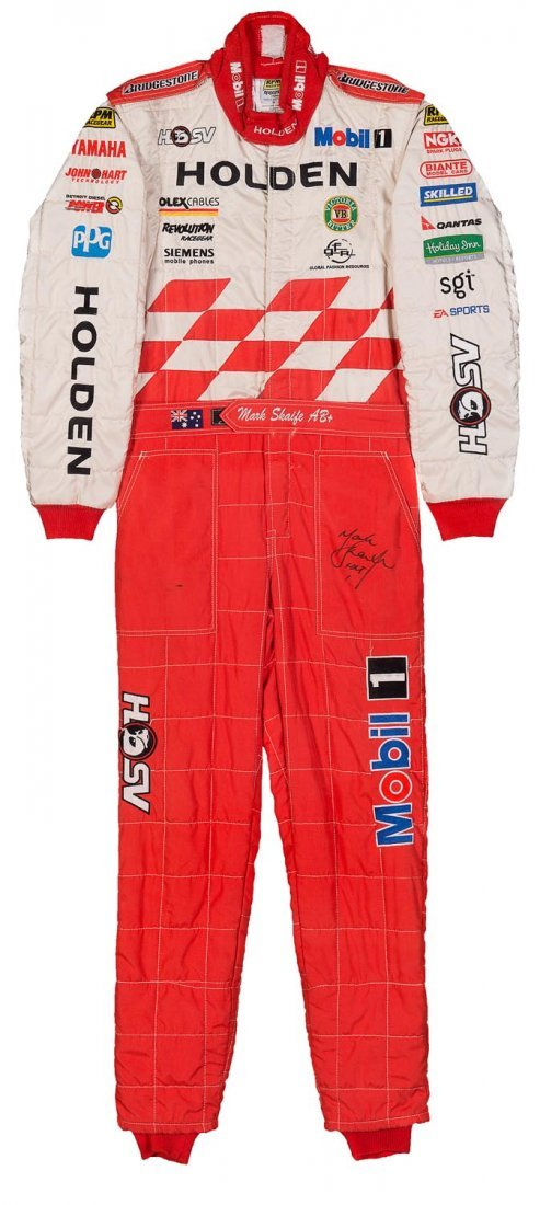 MARK SKAIFE, Holden Racing Team racing suit, signed on