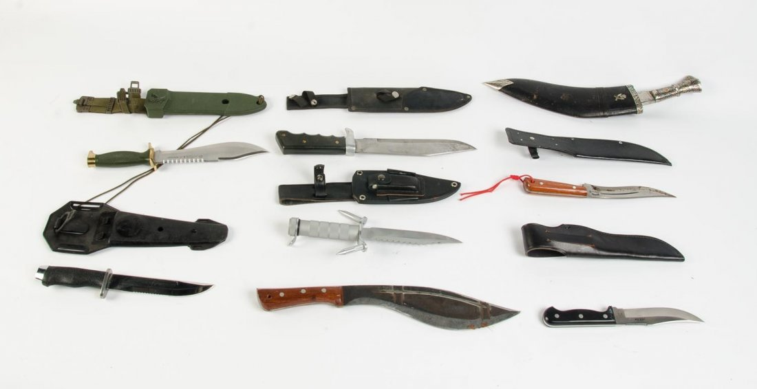 Hunting & sporting knives, 20th Century. (48 items)