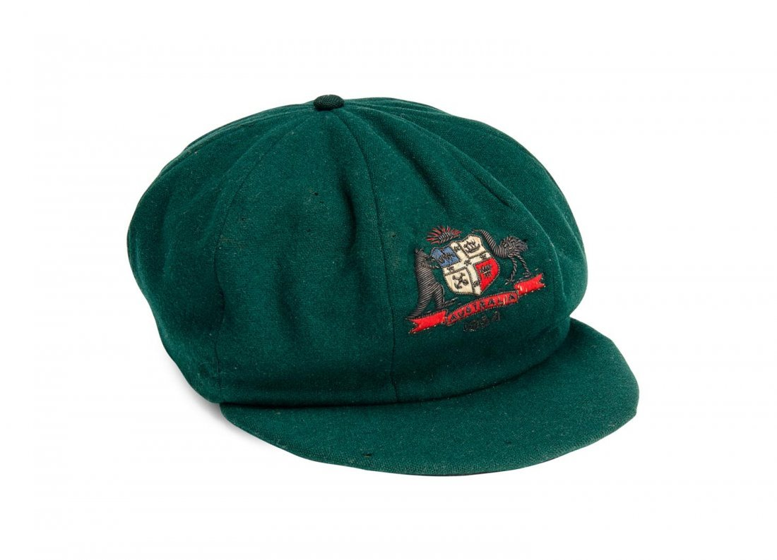 "DON BRADMAN'S 1934 AUSTRALIAN ""BAGGY GREEN"" TEST CAP,"