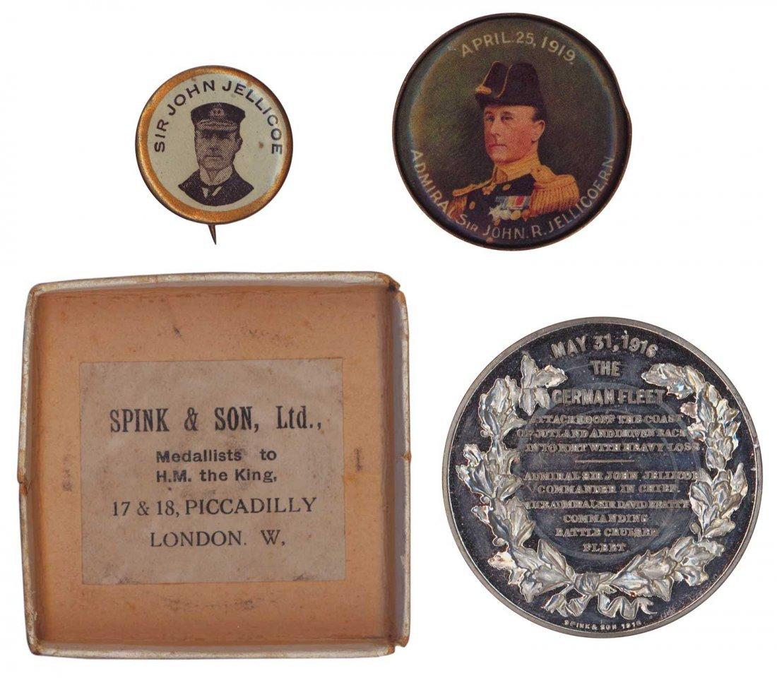 NAVY: 1916 Battle of Jutland medal in original Spink