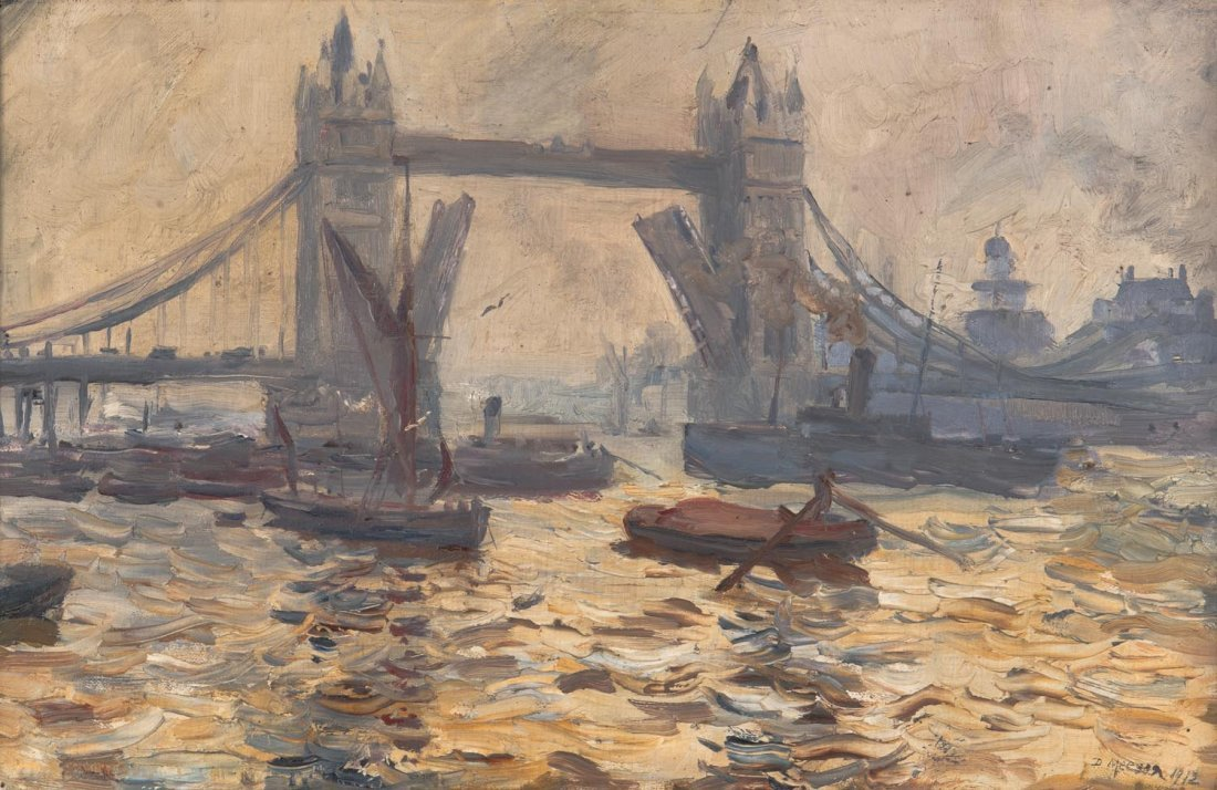 DORA MEESON (1869-1955)  On the Thames 1912