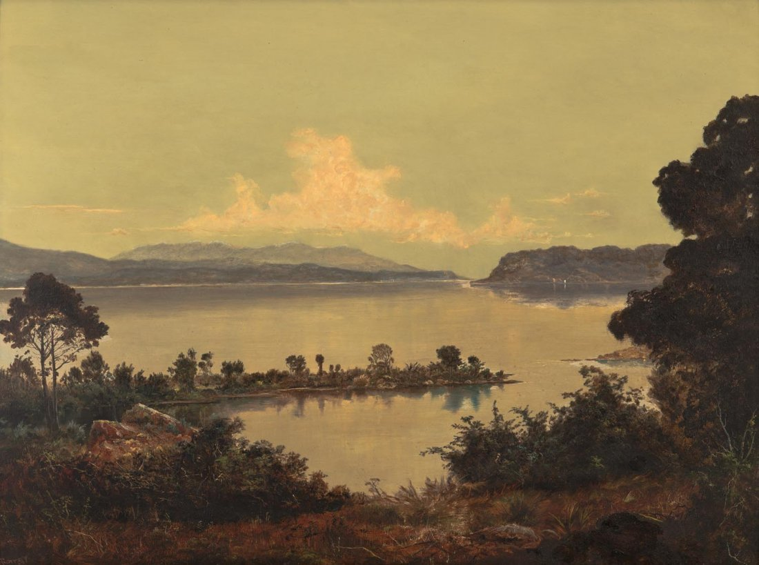 HAUGHTON FORREST (1826-1925)  Early Morning, Lake Scene